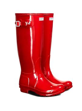 Bootss Hunter Original Tall Gloss Rouge
