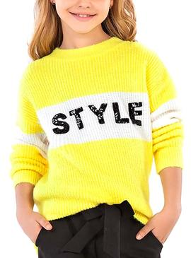 Pull Mayoral Style Jaune pour Fille