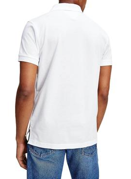 Polo Tommy Hilfiger Icon  Rond Blanc Homme