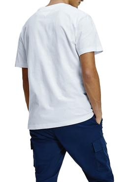 T-Shirt Tommy Jeans Linear Logo Blanc Homme