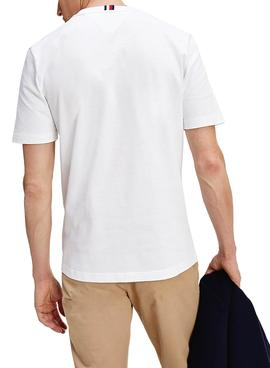 T-Shirt Tommy Hilfiger Icon Coin Blanc Homme