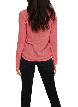 Pull Only Geena Xo Rosa pour Femme
