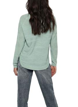 Pull Only Caviar Vert pour Femme