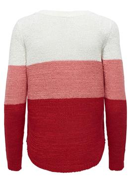 Pull Only Geena Rouge pour Femme