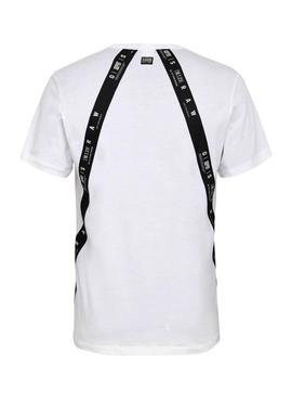 T-Shirt G-Star Sport Tape Blanc pour Homme