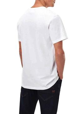 T-Shirt G-Star Raw Compact Blanc pour Homme