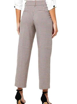 Pantalones Only Bea Cadres Mid Ank pour Femme